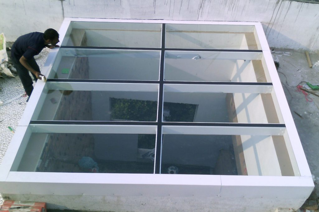 flat glass skylight