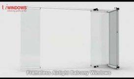 Frameless Stackable Balcony windows - Summer Windows